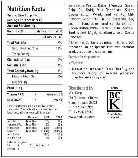 Chocolate Bar Nutrition Codes